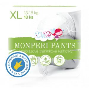 MonPeri Pants plienkové nohavičky XL 13-18kg, 18ks/bal