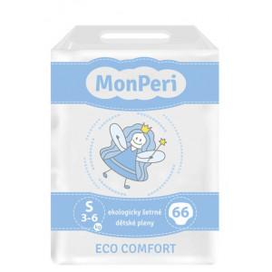 MonPeri detské plienky ECO comfort S 3-6kg, 66ks/bal