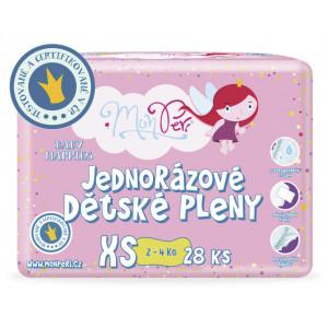 MonPeri detské plienky XS 2-4kg, 28ks/bal