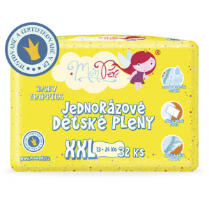 MonPeri detské plienky XXL 13-25kg, 32ks/bal