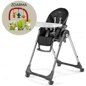 Peg-Pérego Jedálenská stolička Prima Pappa FOLLOW ME HI-TECH LICORICE + Darček