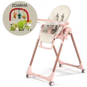 Peg-Pérego Jedálenská stolička Prima Pappa FOLLOW ME MON AMOUR + Darček