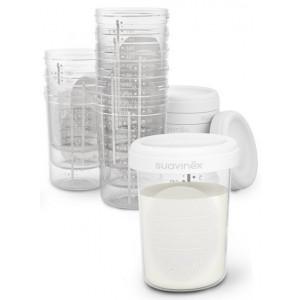 SUAVINEX Skladovacie poháriky 200ml 10 kusov