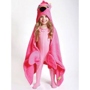 Zoocchini osuška s kapucňou veľká PLAMENIAK Flamingo