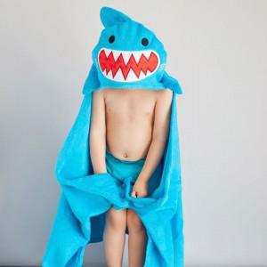 Zoocchini osuška s kapucňou veľká ŽRALOK Shark