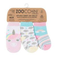 Zoocchini Set 3ks protišmykové ponožky Jednorožec