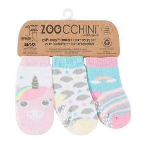 Zoocchini Protišmykové ponožky set 3ks Jednorožec