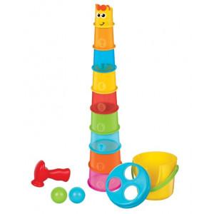 B-KIDS Maxi stohovacie kelímky Žirafa