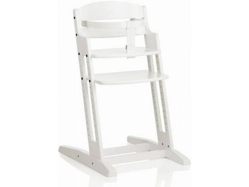 Baby Dan Drevená jedálenská stolička DanChair WHITE