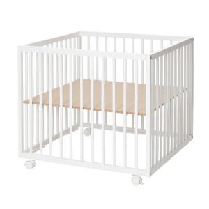 Baby Dan Drevená ohrádka Comfort Medium white, 79x79x73cm