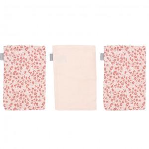 Bébé-Jou Bambusové mušelínové žinky 3ks - Leopard Pink