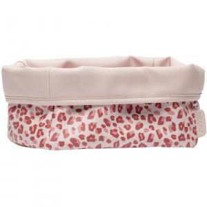 Bébé-Jou Textilný košík na dojčenské potreby Leopard Pink