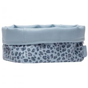 Bébé-Jou Textilný košík na dojčenské potreby Leopard Blue