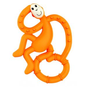 MATCHSTICK MONKEY Mini monkey hryzátko s antimikrobiálnym povrchom biocote oranžové