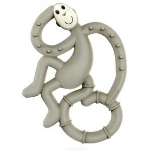 MATCHSTICK MONKEY Mini monkey hryzátko s antimikrobiálnym povrchom biocote šedé