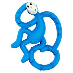 MATCHSTICK MONKEY Mini monkey hryzátko s antimikrobiálnym povrchom biocote modré