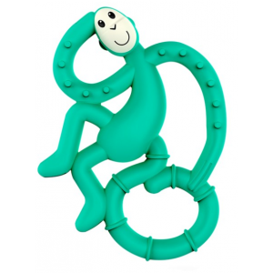 MATCHSTICK MONKEY Mini monkey hryzátko s antimikrobiálnym povrchom biocote zelené