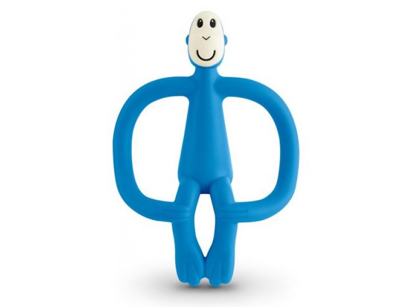 MATCHSTICK MONKEY Hryzátko a zubná kefka modrá