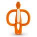 MATCHSTICK MONKEY Hryzátko a zubná kefka oranžová