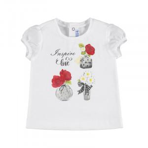 Tričko MAYORAL Kvietky, Girl (4F)