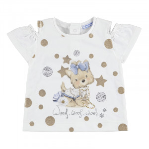 Tričko MAYORAL zlatý Psík, Girl (4E)