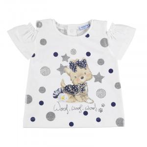 Tričko MAYORAL modrý Psík, Girl (4E)