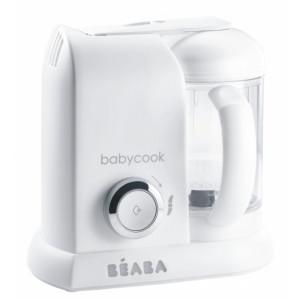 Beaba Parný varič + mixér BABYCOOK White Silver