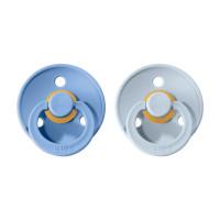 BIBS Colour cumlíky z prírodného kaučuku 2ks - veľkosť 1 | Sky Blue / Baby Blue