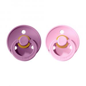 BIBS Colour cumlíky z prírodného kaučuku 2ks - veľkosť 1   Lavender / Baby Pink