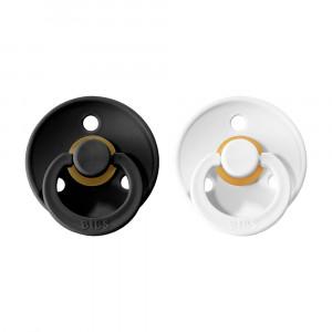 BIBS Colour cumlíky z prírodného kaučuku 2ks - veľkosť 2   Black / White