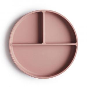 Mushie silikónový tanier s prísavkou | Blush