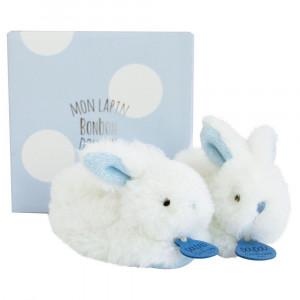 DouDou et Compagnie Lapin Bonbon Zajačik modrý capačky PM 0-6m