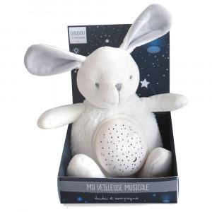 DouDou et Compagnie VM Nočné hudobné svetlo Zajačik 20cm