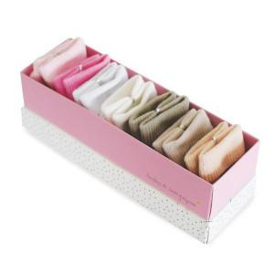 Doudou et Compagnie Set ponožiek v krabičke 0-6m ružové