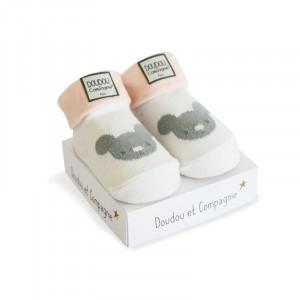 DouDou et Compagnie ponožky pre bábätko ružové mix
