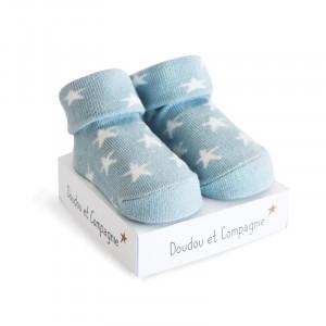 DouDou et Compagnie ponožky pre bábätko modré mix