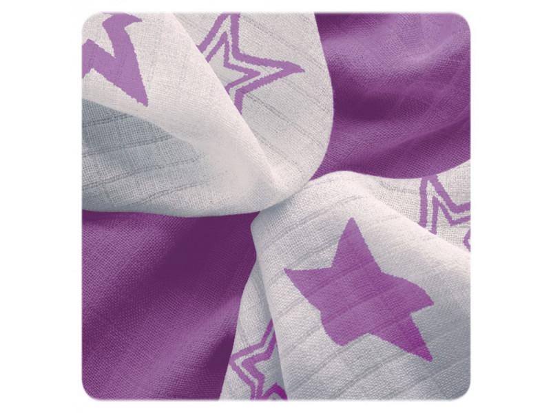 XKKO Plienky BAMBUS 9ks 30x30 - STARS Lilac DOPREDAJ