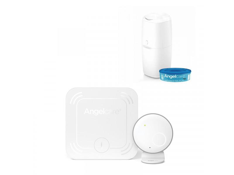 ANGELCARE AC027 Monitor pohybu dychu + kôš na plienky Classic + 1 kazeta   ANGELCARE